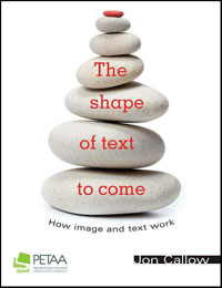 The Shape of Text to Come, cover