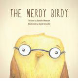 Nerdy Birdy book cover featuring a bespectacled canary