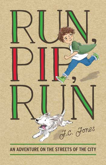 A Boy and his dog running on the book cover