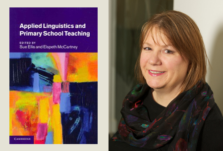 Book cover for Applied Linguistics and Primary School Teaching with Sue Lewis (co-editor) on right