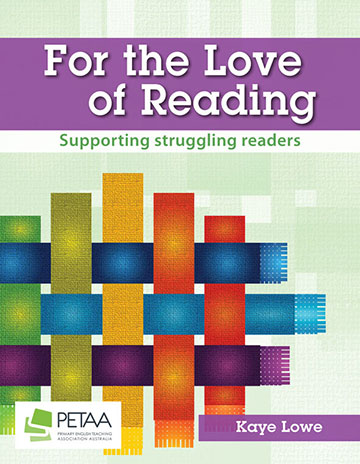 For the Love of Reading cover linked to book page in PETAA webstore