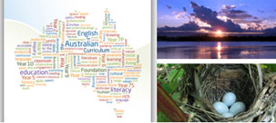 Wordle map of Australia with images from E4AC resource