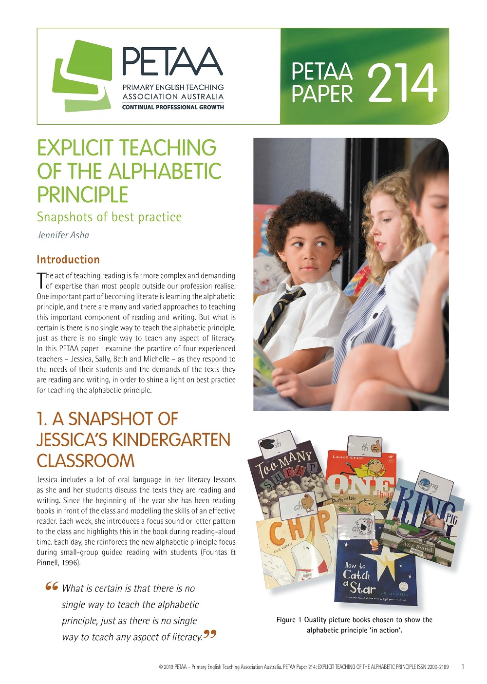 PP214:Explicit teaching of the alphabetic principle