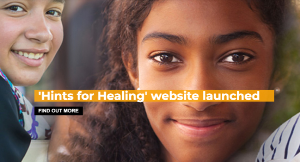 'Hints for healing' website banner